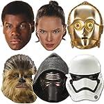 6 Masken aus Starkpapier * STAR WARS...