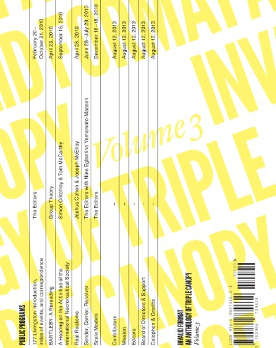 Invalid Format: An Anthology of Triple Canopy: Volume 3 PDF