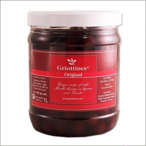 Wild Morello Cherries in Brandy - Guinettes - 1-Lt JarB000127NUC