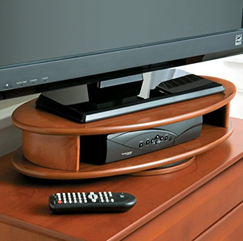 Oval TV Swivel Stand (CHERRY) (Turntable With Wood Base compare prices)