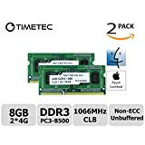 Timetec Hynix IC Apple 8GB Kit (2x4GB) DDR3 PC3-8500 1066MHz memory upgrade for iMac 21.5-inch/27-inch/20-inch/24-inch, MacBookPro 17-inch/ 15-inch/ 13-inch, Mac mini