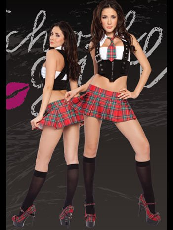 Sexy Fantasy Bad Girl School Costume - XXLARGE