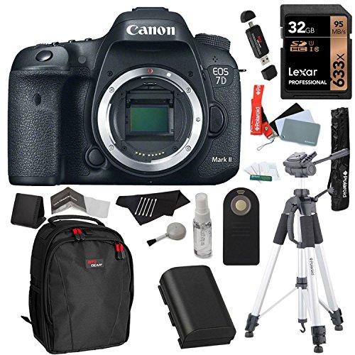 Canon EOS 7D Mark II Digital SLR Camera (Body) + Lexar 32GB SDHC + Polaroid 72