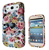 Designer Floral Shabby Chic Vintage Roses Cute SAMSUNG GALAXY S3 I9300 case full cover front and Back