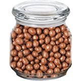 Chocolate Covered Peanuts in Pritchey Patio Glass Jar 8oz Trade Show Giveaway