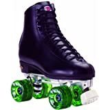 Sailin' Away Black High Top Recreational Outdoor Roller Skates Varies By Size and Wheel Color by Skate Out Loud