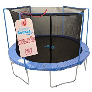 Upper Bounce Trampoline Enclosure Safety Net with Sleeves on top Fits For 15-Feet Round Frame Using 3 Arches (Poles Sold Separately)