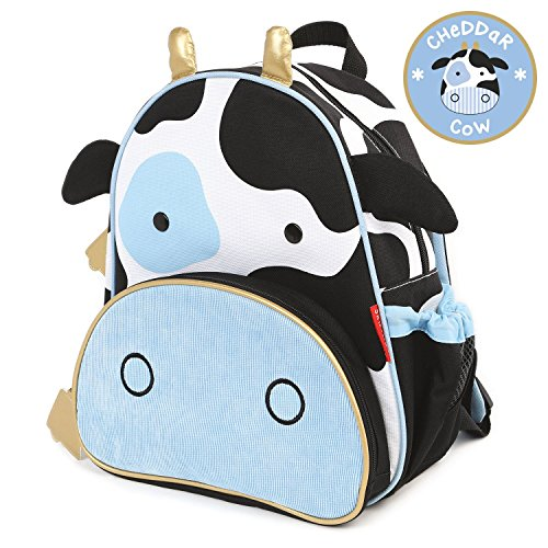Skip Hop Zoo Little Kid and Toddler Backpack, Ages 2+, Multi Cheddar Cow