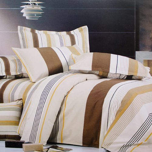 Blancho Bedding - [Shale] 100% Cotton 4PC Comforter Cover/Duvet Cover Combo (Full Size)