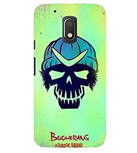 Evaluze boomer Printed Back Cover for MOTO G4 PLAY