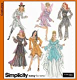 Simplicity Easy to Sew Pattern Costumes for Adults 5363 Size Hh 6,8,10,12