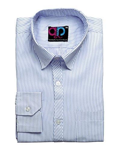 Formals-by-Koolpals-Cotton-Blend-Shirt-Dark-Blue-Vertical-Stripes-on-White