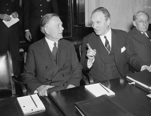1937 photo As hearing on president's re-organization plan opened today. Washington, D.C., March 10.