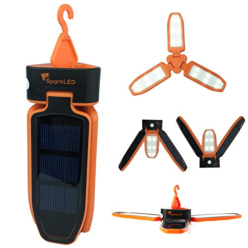 Folding-Clover-Solar-LED-100-Lumen-Camping-Lantern-USB-Rechargeable-and-Solar-Chargeable-3-Level-Brightness-Including-SOS-Flashing-Hurricane-Storm-Tent-Lantern-Only-6-High