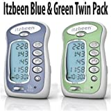 BABY SHOWER GIFT! Itzbeen Blue & Green Twin Pack Baby Care Timer