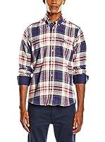 Polo Club Camisa Hombre Academy Trend Top (Beige / Azul)