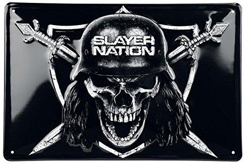 Slayer Slayer Nation Targa in metallo standard