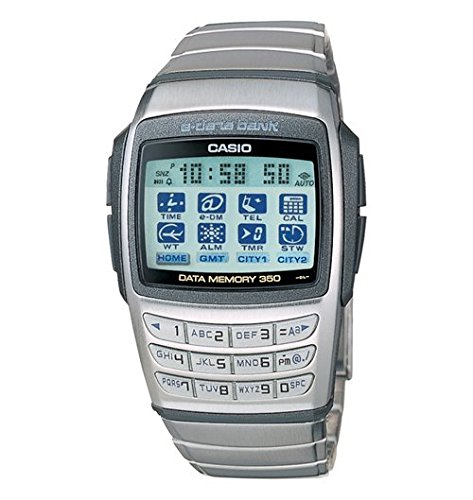 Producto nuevo para hombre arma de juguete Casio EDB610-1 Stanless Digital base acero calculadora reloj infantil con mecanismo de base 350 páginas