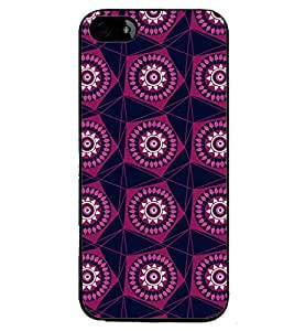 Printvisa Maroon Pentagon Pattern Back Case Cover for Apple iPhone 5S