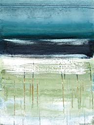 18W x 24H Sea and Sky II by Heather Mcalpine - Stretched Canvas w/ BRUSHSTROKES