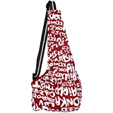 Imported Pet Dog Cat Puppy Sling Single-Shoulder Bag Carrier Holder Tote Red Letter L