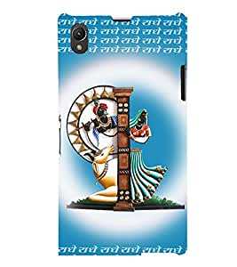 printtech Lord Radhe Back Case Cover for Sony Xperia Z1::Sony Xperia Z1 L39h
