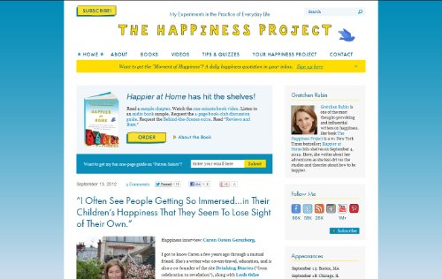 the happiness project blog The happiness project 18k likes website: merch: blogsdallasobservercom the happiness project october 22, 2011.