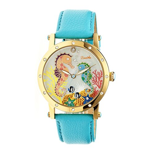 bertha-womens-bthbr4203-morgan-mop-turquoise-genuine-leather-strap-watch