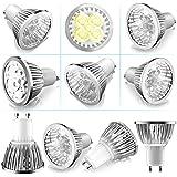 LED Bulbs Zookki (10-Pack) 4-Watt Gu10 Super Bright LED Light Bulbs White Light 6500k,Not Dimmable