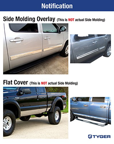2009-2014 Ford F-150 Crew Cab 4Pc Flat Stainless Steel Body Side Molding 2/""