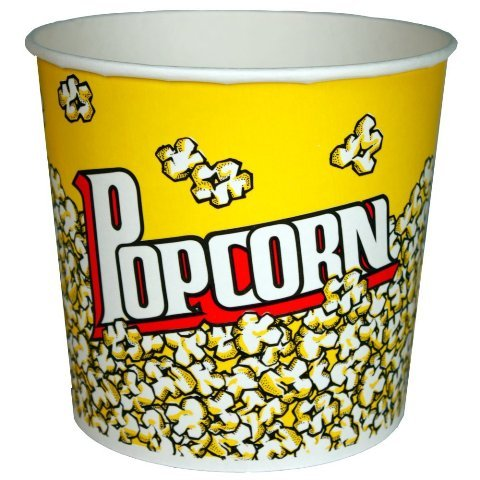 Popcorn Bucket (Set of 50) Size: 85 oz.