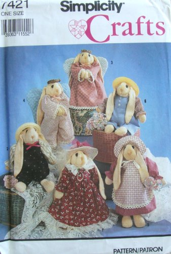 Simplicity 7421 Sew Pattern SOCK BUNNY and CLOTHES
