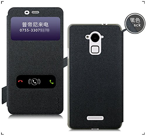 Greyish Black Original Pudini Goldsand Series Dual Window Flip Stand Case Cover For Coolpad Note 3 With Original Pudini Retail Box -- Greyish Black  available at amazon for Rs.299