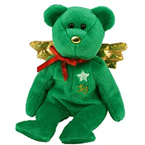 Ty Beanie Babies - Gift (Joy) the Green Christmas Teddy Bear (Hallmark