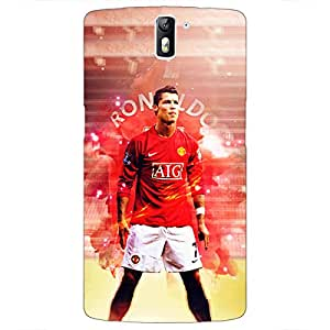 Jugaaduu Cristiano Ronaldo Manchester United Back Cover Case For OnePlus One