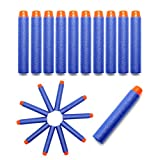 Foam Darts, Hosim Refill Bullet Darts Pack 2.84in/7.2cm Soft Foam [Safe Round Head and Air Hole] Universal Standard for Most Nerf N-strike Elite Series Blasters Kid Toy Gun ( Blue)