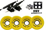 RANDAL 180MM BLACK LONGBOARD & WHEELS PACKAGE BIGFOOT 70MM STALKERS YELLOW