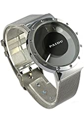 Youyoupifa Fashion Black Dial Sliver Stainless Steel Strap Quartz Watch