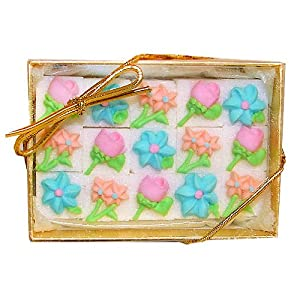 Variety Floral Decorated Sugar Cubes (15 pc)