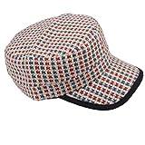 C-Princessストローキャップ キャスケット 麦わら帽子 麦藁帽子 ストローハット サンバイザー レディース 紫外線対策 カラフル