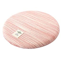 Memory Foam Round Chair Cushion Seat Pad Floor Cushion Pillow for Office, Red