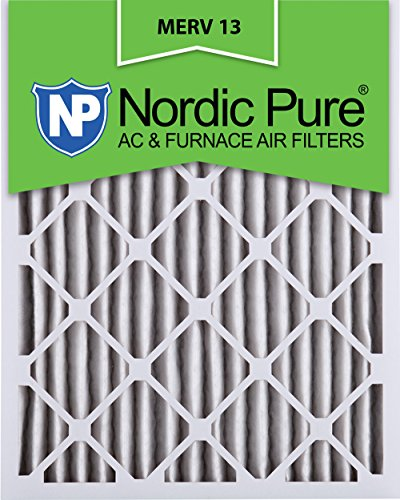 Nordic Pure 16x25x2M13-3 16x25x2 MERV 13 Pleated AC Furnace Air Filter, Box of 3, 2-Inch (16x25x5 Furnace Filter Merv 13 compare prices)
