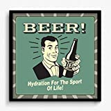 BCreative Beer! Hydration For The Sport Of Life! (Officially Licensed) Framed Poster Small 13 X 13 Inches