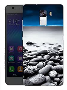 """Humor Gang Rocks Sand Beach Printed Designer Mobile Back Cover For """"Huawei Honor 7"""" (3D, Matte, Premium Quality Snap On Case)"""
