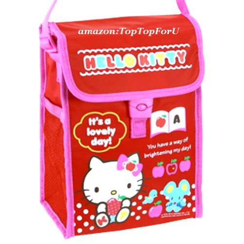 Hello Kitty Insulated Cooler Tote Shoulder Bag Food Lunch Box Jar Water Bottle Case With Aluminium Foil Lining (Keep Warm / Cold) front-873142
