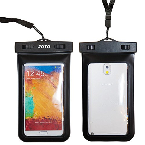 Joto Universal Waterproof Case Bag For Samsung Galaxy S5, S4, S3, Samsung Note 3 / 2 / 1 / 4, Iphone 5, Iphone 6, Htc One M8 (2014), M7 (2013), Htc One Max, Lg G2, G3, Nexus 5, 4, Sony Xperia Z1, Z2, Nokia Lumia 1520, 520, 630, 930, Blackberry Z10, Z3, Mo