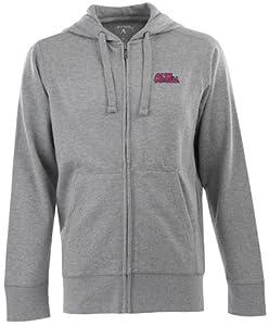 Mississippi Signature Full Zip Hooded Sweatshirt (Grey) by Antigua