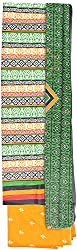 YR Traders Women's Cotton Straight Unstitched Dress Material (YR001, Multi color, Free Size)
