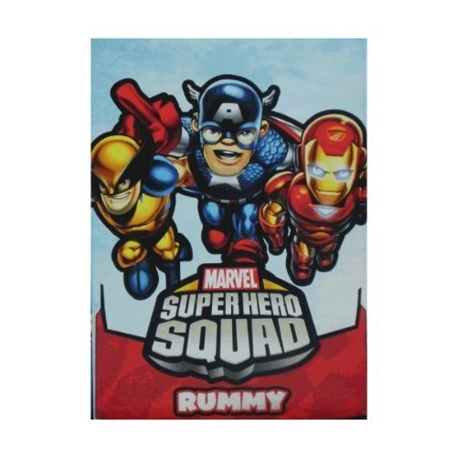 Marvel Super Hero Squad Large Card Game ~ Rummy - 1
