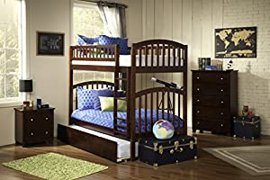 Richland Bunk Bed Twin over Twin with Urban Trundle Bed